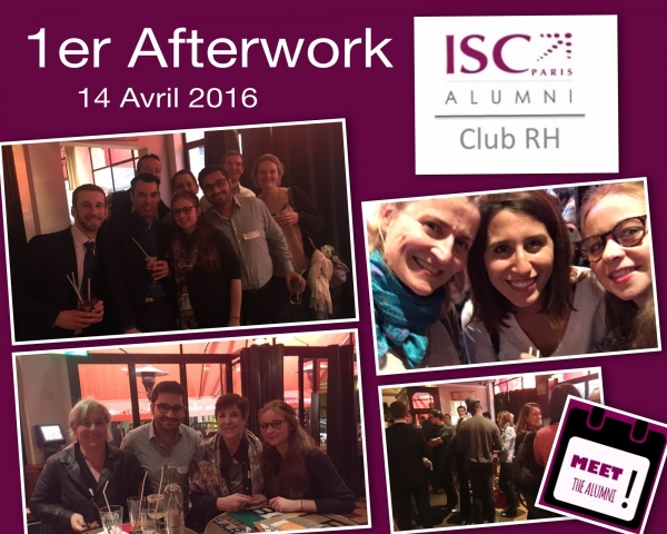 1er Afterwork du Club RH ISC Paris Alumni le 14 avril dernier
