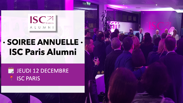 Save the date ! SOIREE ANNUELLE/AG des ISC_Alumni