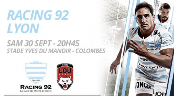 BDS : RACING 92 / LOU RUGBY à 5 euros