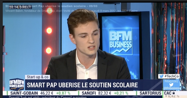 SMART PAP (Startup incubée ISC Paris) sur BFM Business