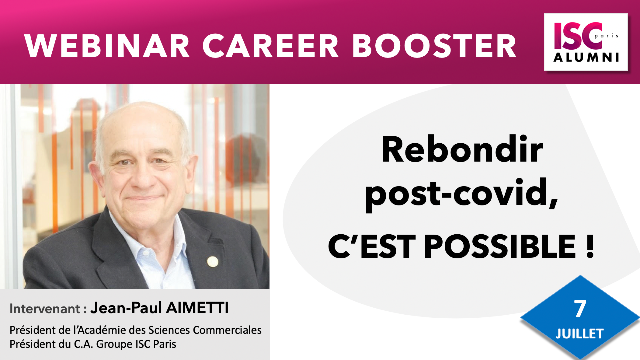"Webinar : ""Rebondir professionnellement post -covid, c'est possible !"""