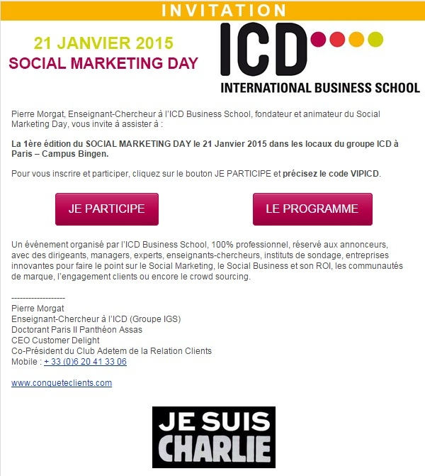 SOCIAL MARKETING DAY le 21 Janvier 2015