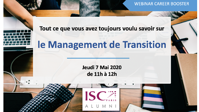 "Webinar ""Management de Transition"" le 7 mai"